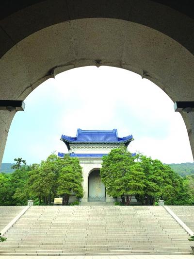 修缮后的中山陵碑亭。南京市文旅局供图