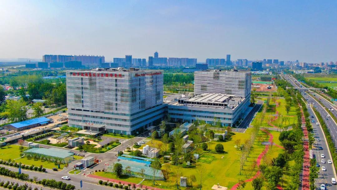 鼓楼医院江北国际医院。南报融媒体记者 姚强 冯芃摄