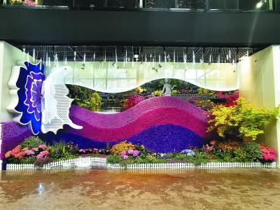 位于主展館C2區一樓的花卉花藝展南京展區。通訊員 王軍攝