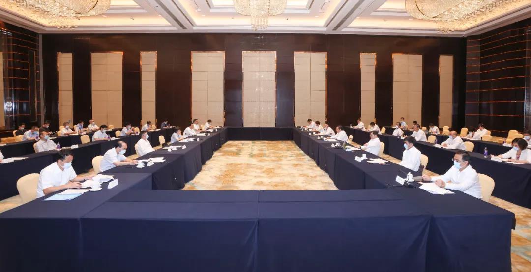9月14日,安徽省滁州市党政代表团来南京考察,两市召开工作对接座谈会。南报融媒体记者 冯芃 摄