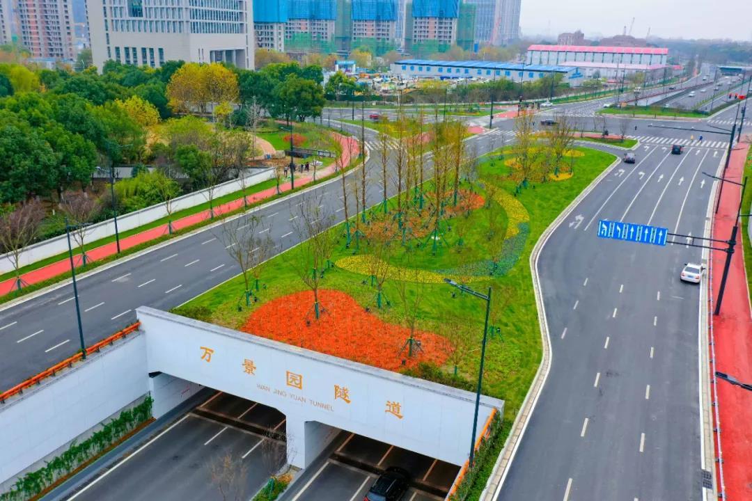 扬子江大道快速化改造东宝路至河西大街段全线贯通,沿线绿化带、慢行系统也全面建成。南报融媒体记者 冯芃摄