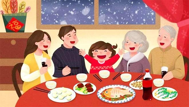 76.4%受访者打算全家人一起准备年夜饭