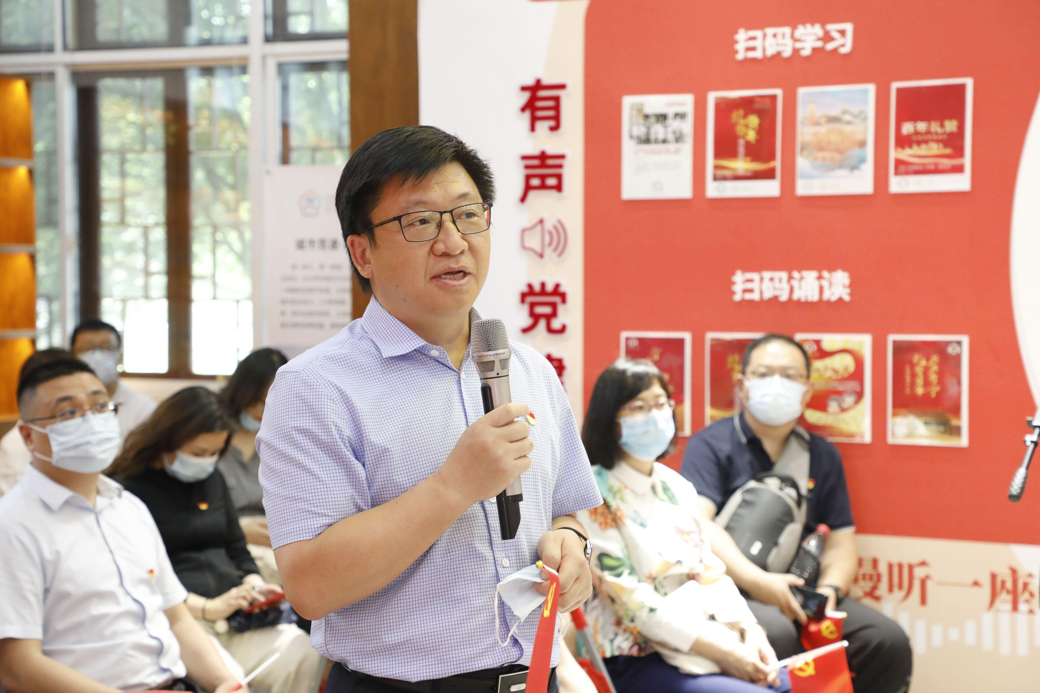 集团党委书记王嵬谈参观学习感悟。