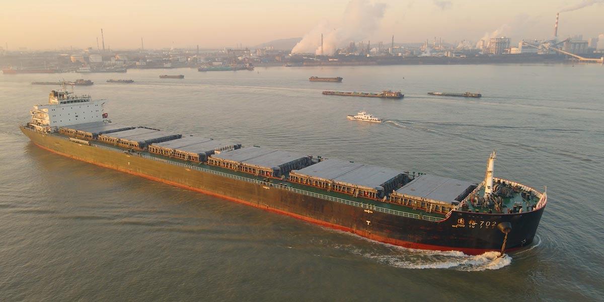 南京港首次迎來5萬噸以上貨輪
