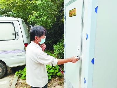 新建15座移动公厕,方便了铁心桥居民的如厕所需。 通讯员 郭宇彤摄