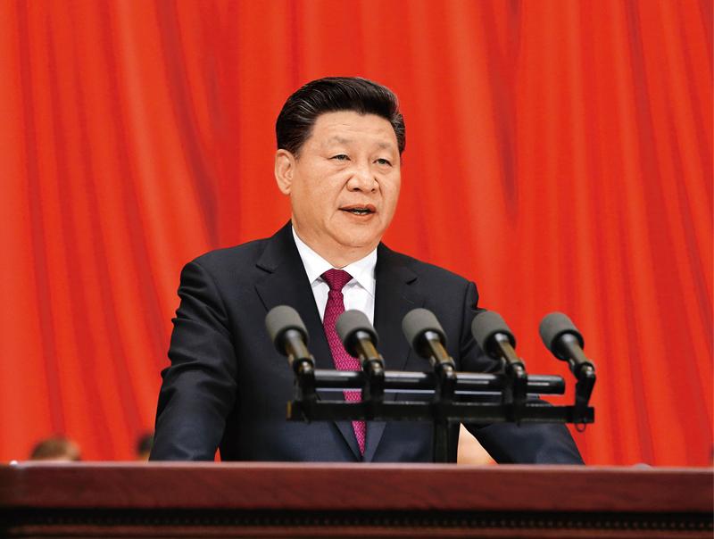 2016年7月1日,慶祝中國共產黨成立95周年大會在北京人民大會堂隆重舉行。中共中央總書記、國家主席、中央軍委主席習近平在大會上發表重要講話。 新華社記者 劉衛兵/攝